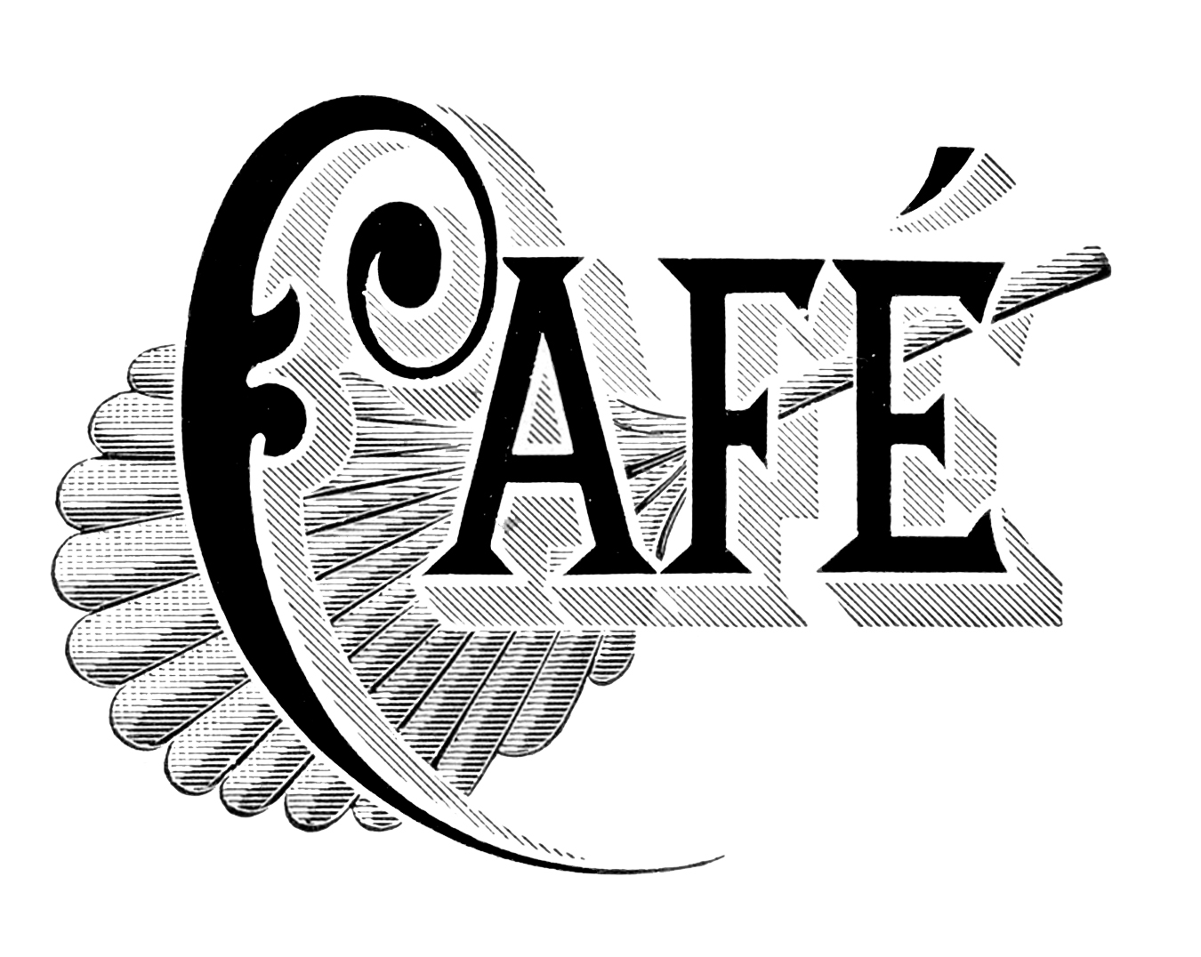Vintage typography cafe and wine list the graphics fairy for Free clipart animations
