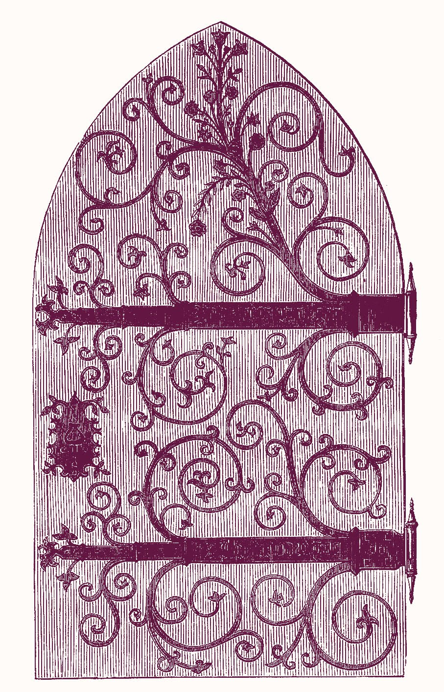 This Is A Fun Graphic From An 1850s Catalog Its Actually Gothic Style Church Door But I Cant Help Thinking Of Harry Potter When Look At It