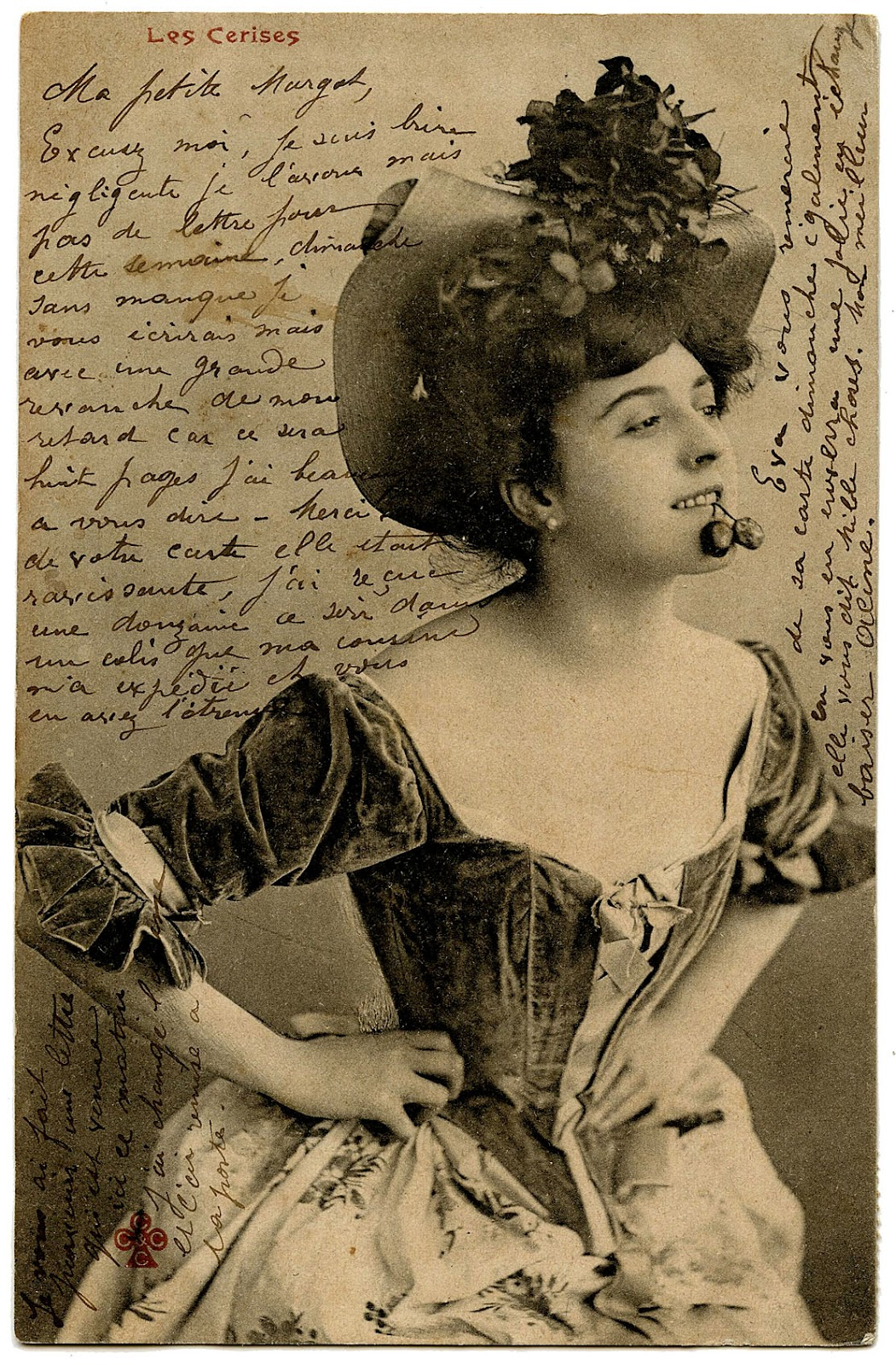 Carte Postale Sassy French Woman The Graphics Fairy