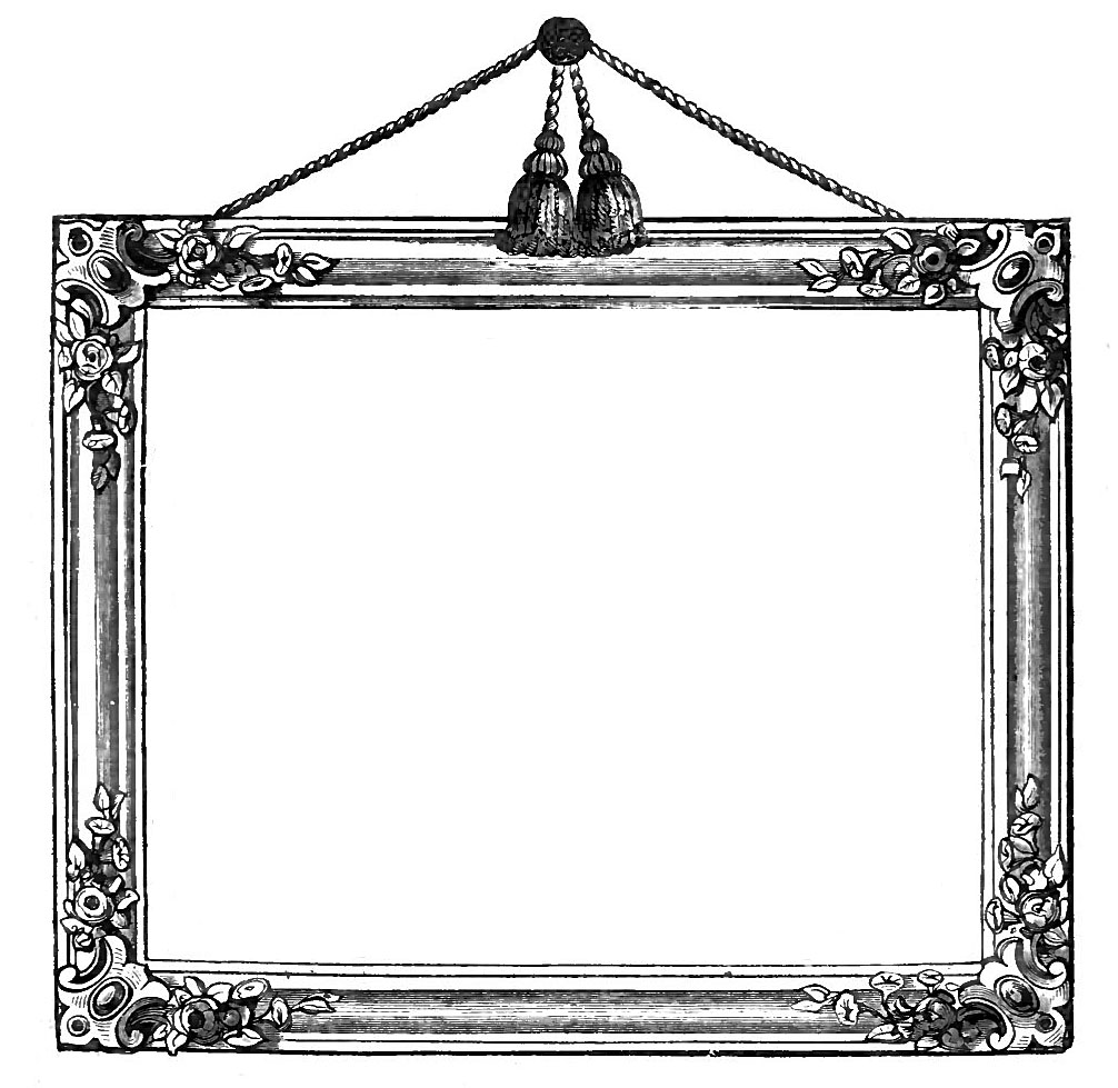 Vintage graphics victorian frames with tassels the for How to make vintage frames