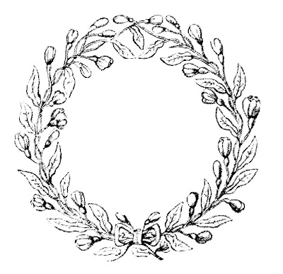 Vintage Clip Art Lovely Delicate Wreath Frames The