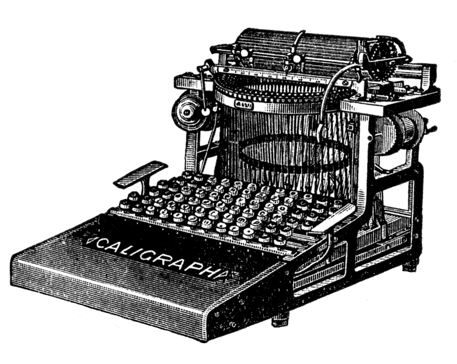 Vintage Clip Art - 3 Antique Typewriter Graphics - The ...