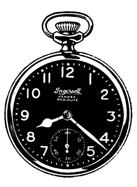 pocket watch clipart - photo #31