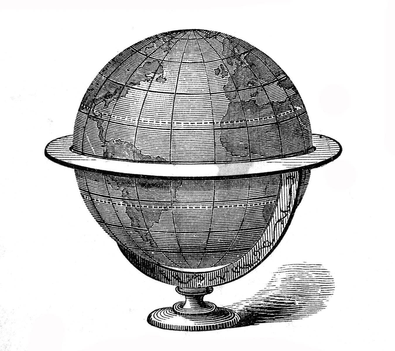 Vintage Globe Line Drawing : Thursday is request day map of africa steampunk globe