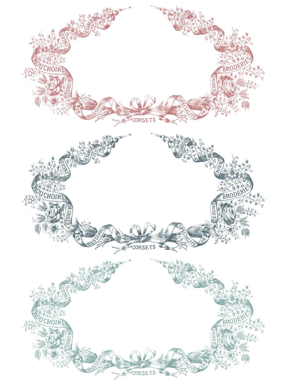 image relating to Printable Frames named Traditional Clip Artwork - French Ephemera Frames Extravaganza
