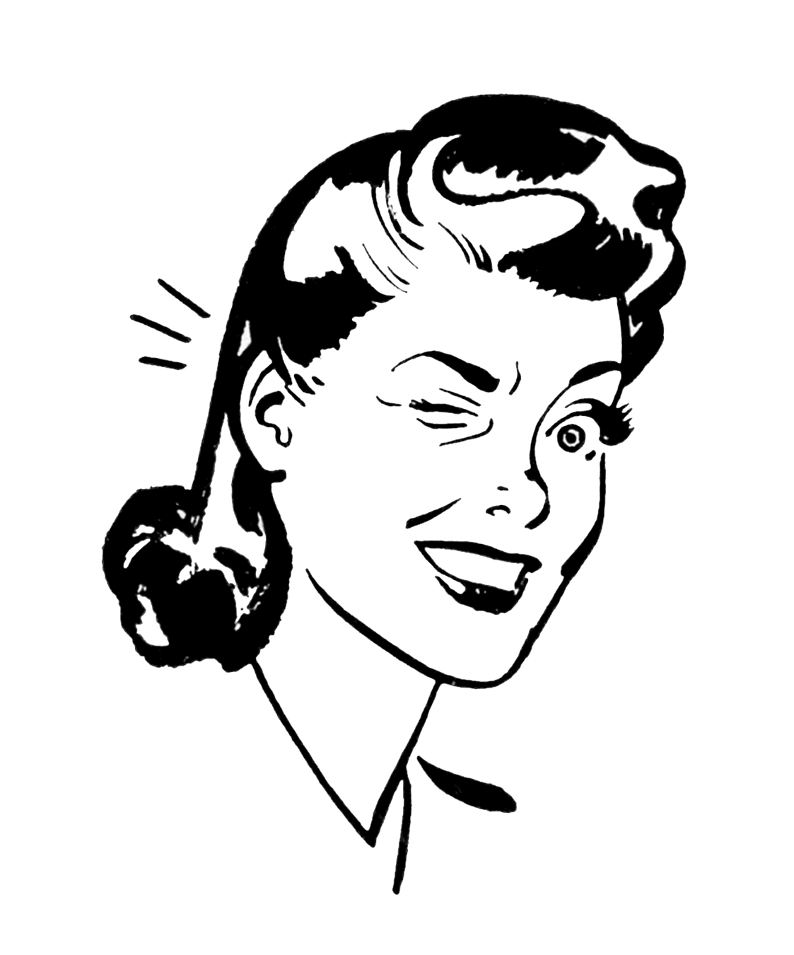 Great Retro Woman Clip Art 1123 x 1350 · 265 kB · jpeg