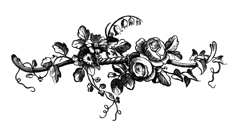 Vintage Clip Art - Engraved Roses - Printable Labels - The ...