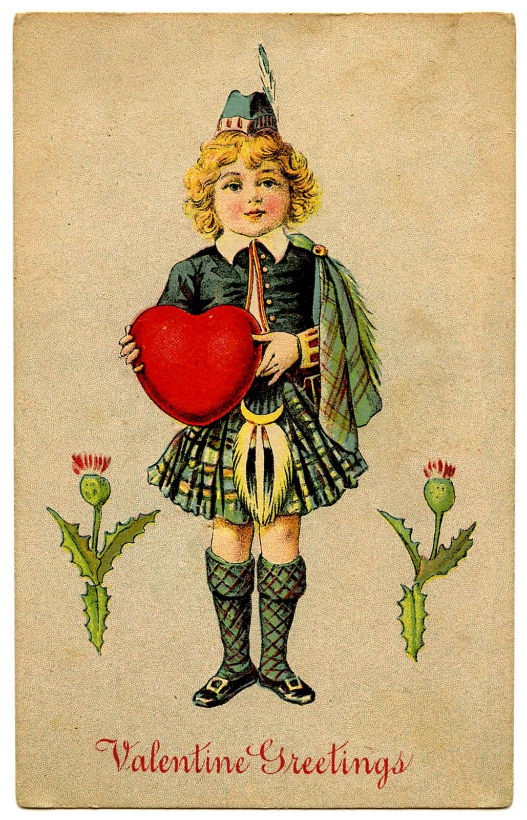 Toll Vintage Valentine Clip Art