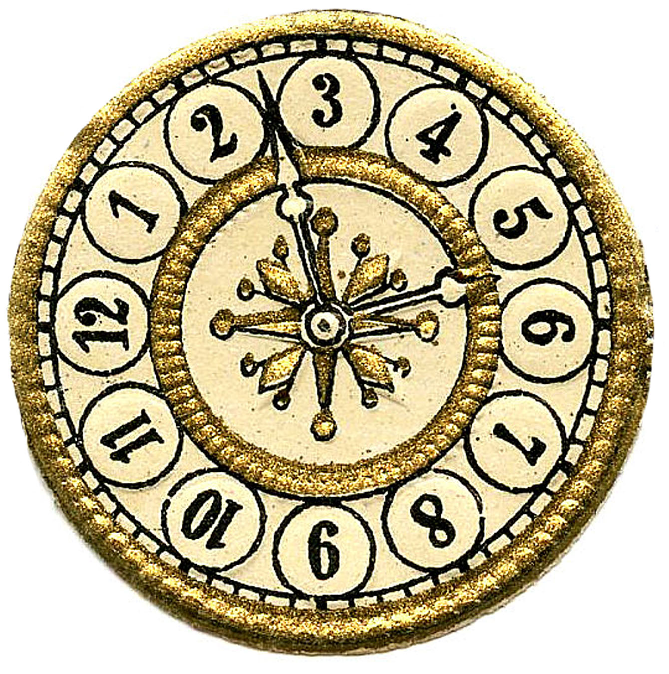Vintage Clip Art - Scrap Clock Faces - Steampunk - The Graphics Fairy