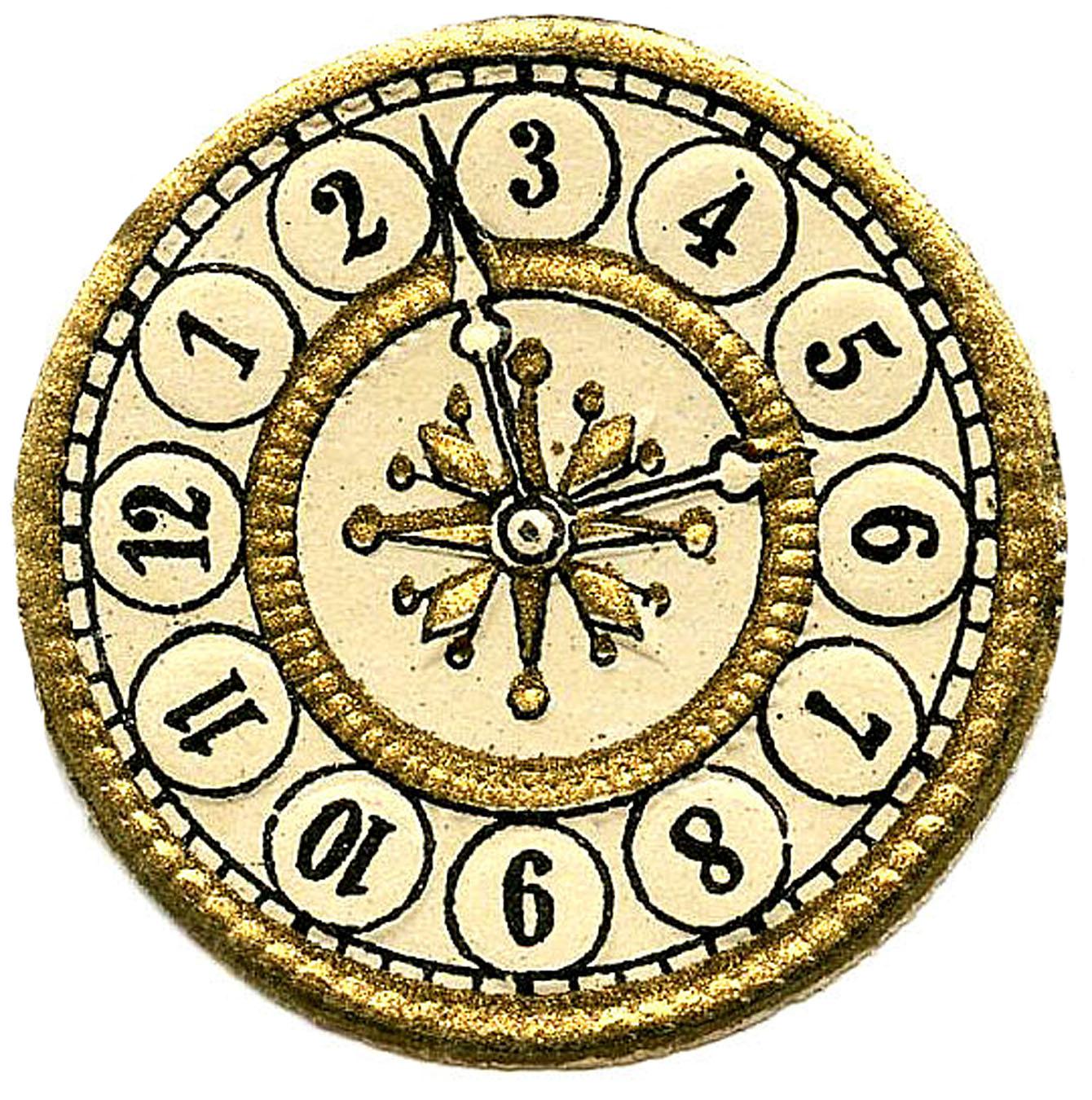 Vintage Clock Face Clipart