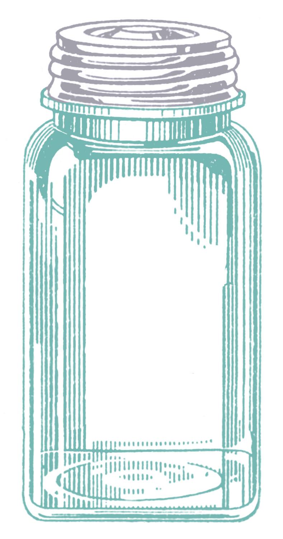 vintage images - mason jars