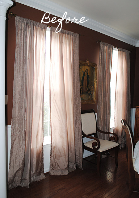 Iu0027ve Had These Silk Blend Curtains In My Dining Room For Awhile, And Ever  Since I Redid My Living Room, Iu0027ve Been Wanting To Change Them Out! Part 46