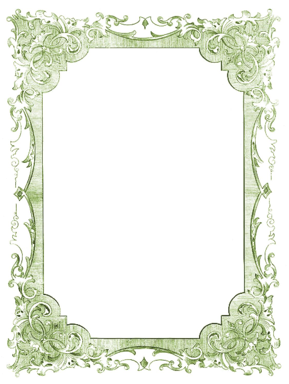 Vintage Clip Art - Romantic Frames - Christmas Colors ...