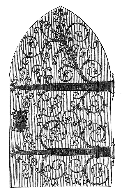 Vintage Clip Art u2013 Gothic Door u2013 Harry Potter-esque  sc 1 st  The Graphics Fairy & Vintage Clip Art - Gothic Door - Harry Potter-esque - The Graphics ... pezcame.com