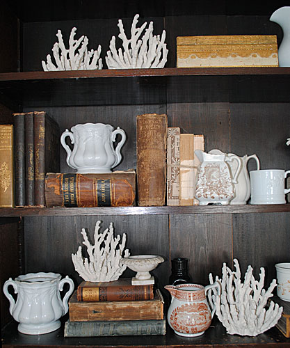 Collections - Styling my Shelves with Antiques // The Graphics Fairy