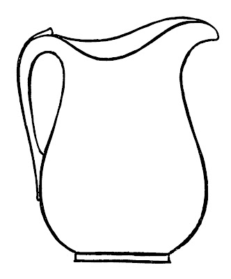 Vintage Advertising Clip Art - Ironstone Pitcher - The Graphics Fairy