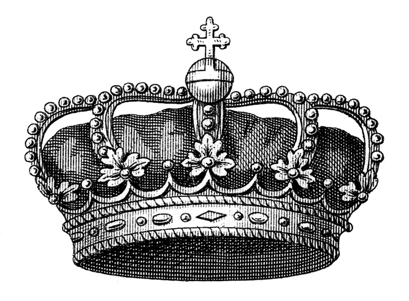 vintage clip art another fabulous crown the graphics fairy. Black Bedroom Furniture Sets. Home Design Ideas