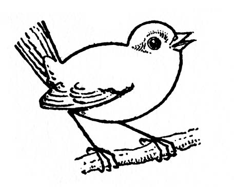 Kids Printable - Draw Some Birds #2 - The Graphics Fairy