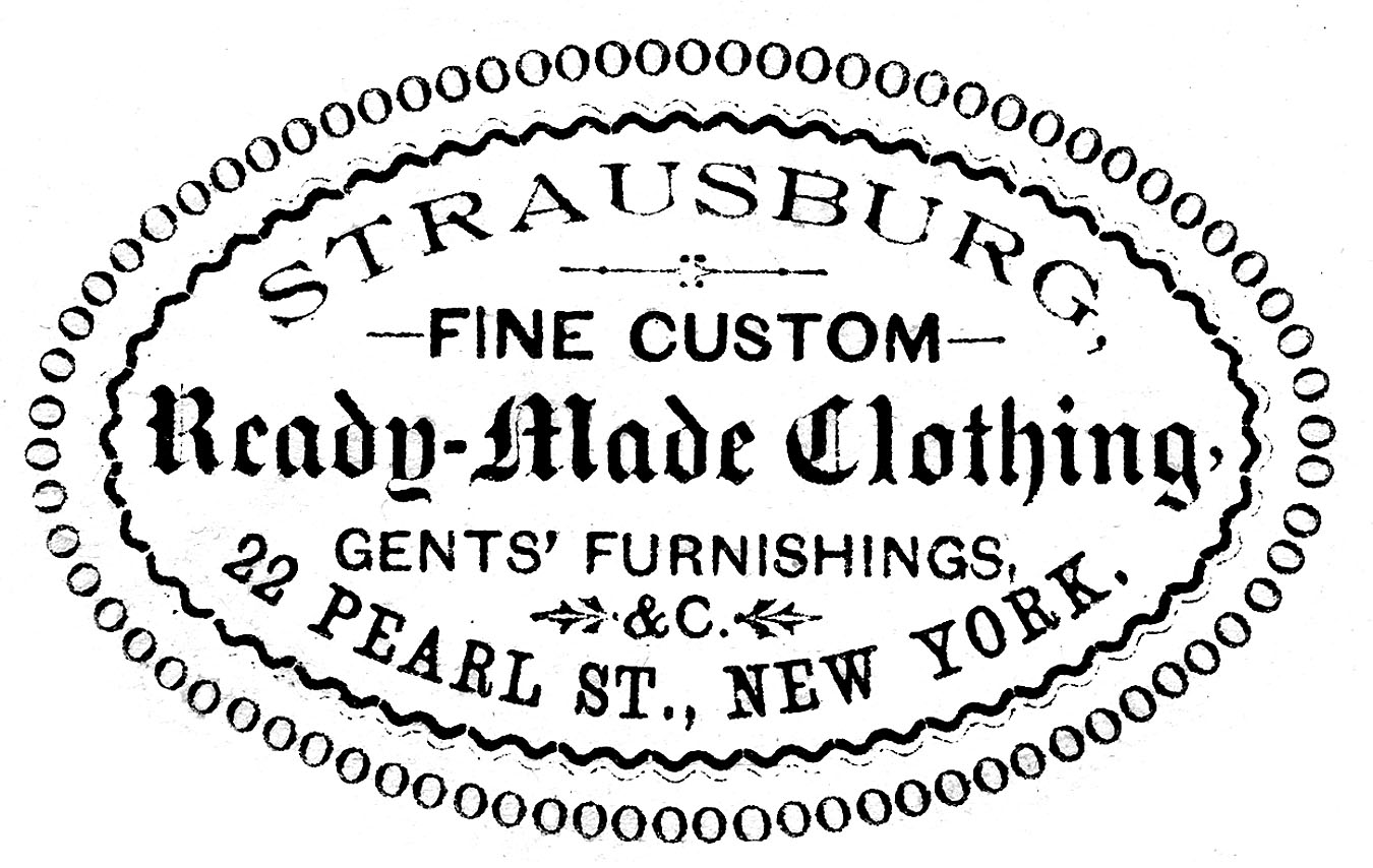Vintage Clip Art Clothing Ad Oval Frame The Graphics