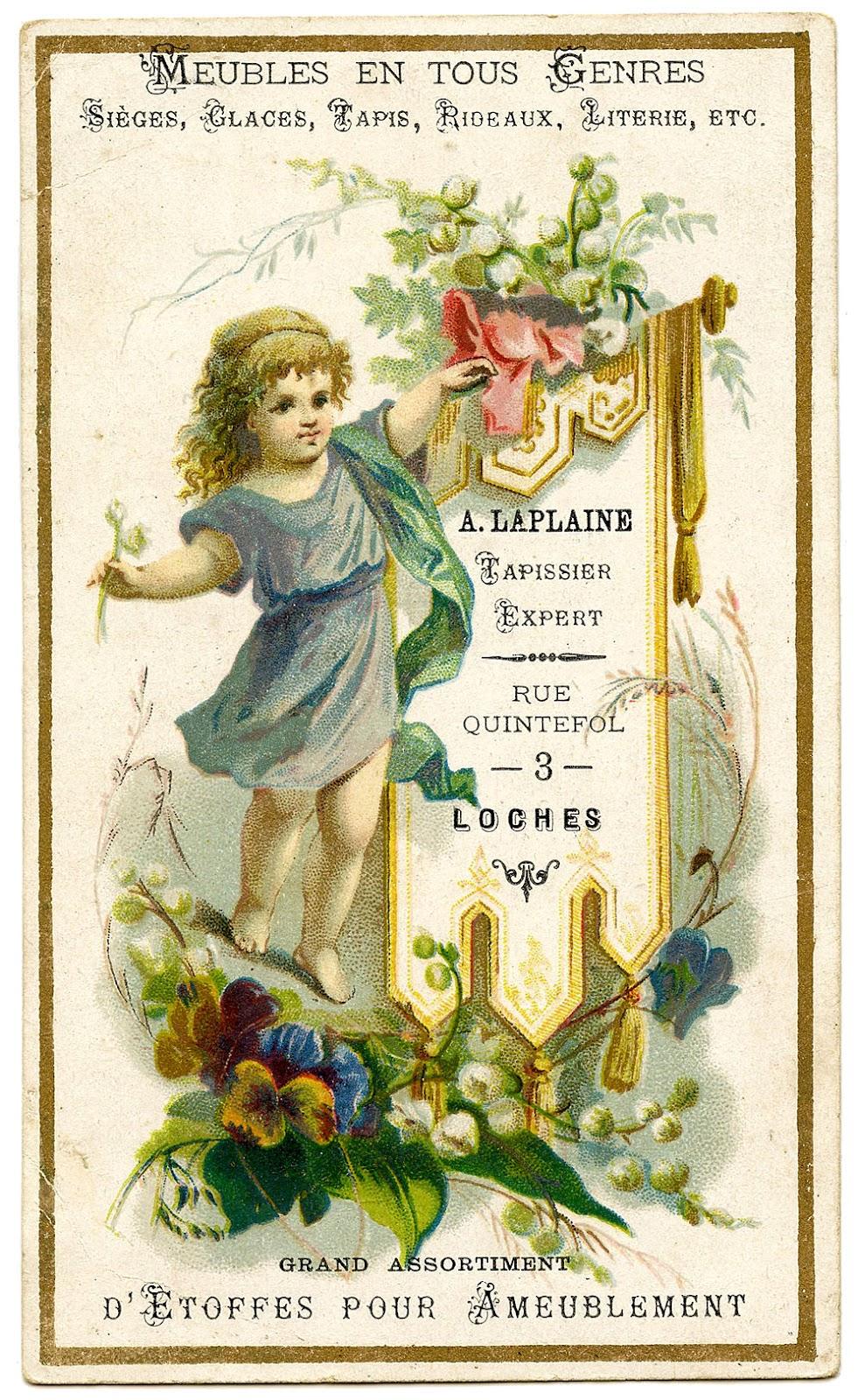 Vintage Graphics French Ephemera The Graphics Fairy – Birthday Greetings French