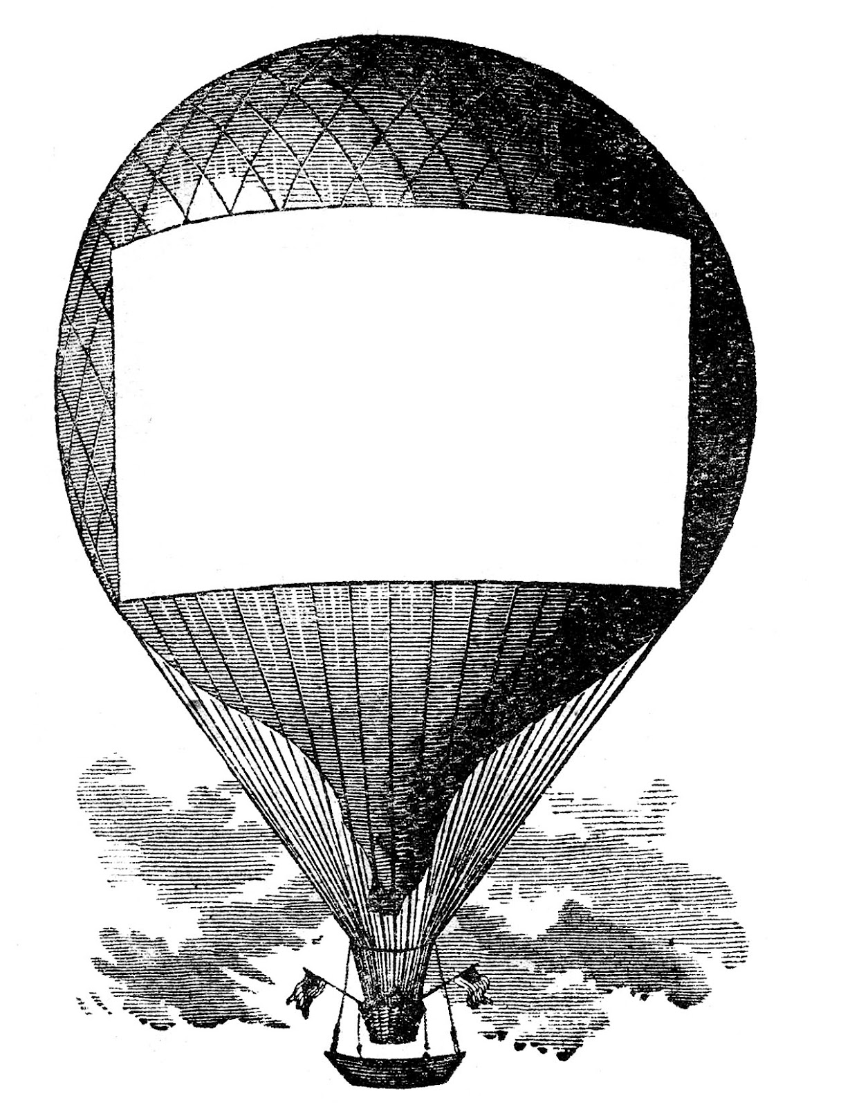 Advertising Clip Art - Hot Air Balloon - Steampunk - The Graphics ...