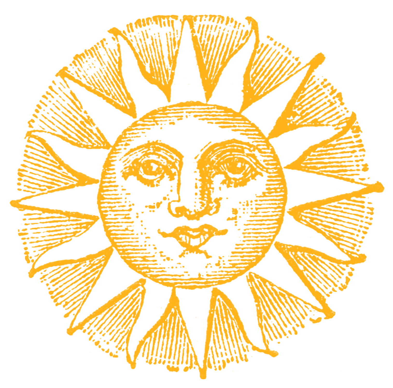 Line Drawing Sun Vector : Vintage clip art old fashioned sun with face the