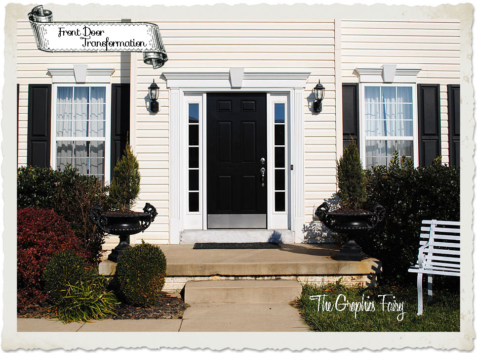 Curb Appeal Front Door Transformation The Graphics Fairy