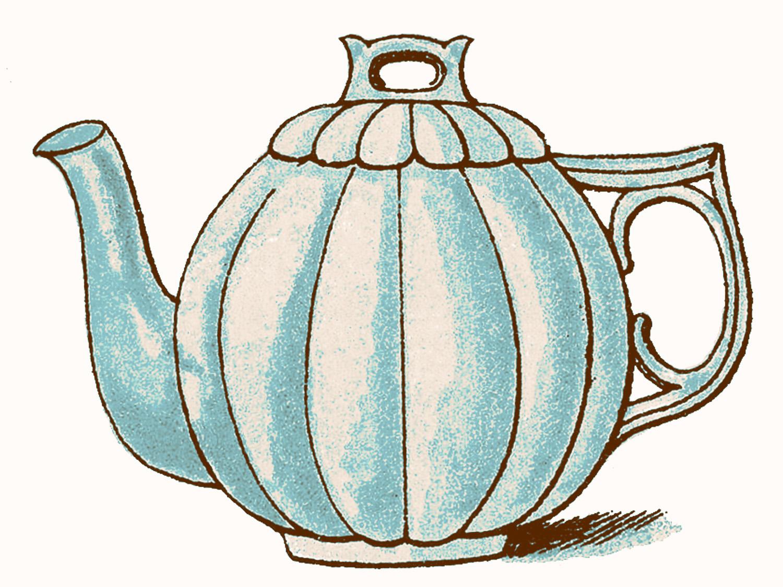 Vintage Clip Art Images - Adorable Pastel Teapots - The ...