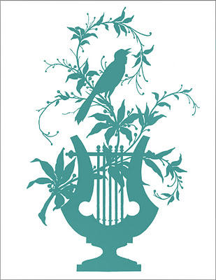 Transfer Printable - Bird with Vines - The Graphics Fairy