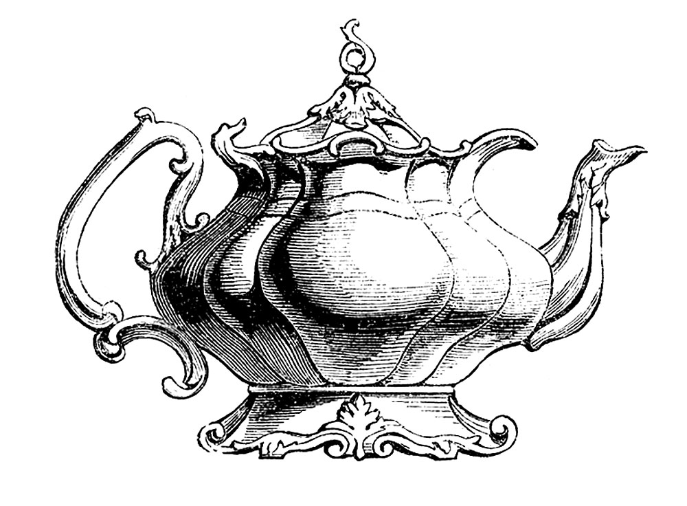 Vintage Clip Art Best Teapot Ever The Graphics Fairy