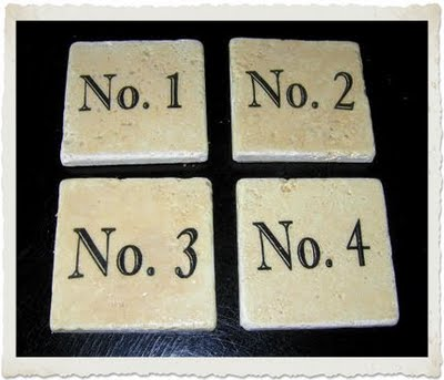 Vintage Number Coasters - The Graphics Fairy