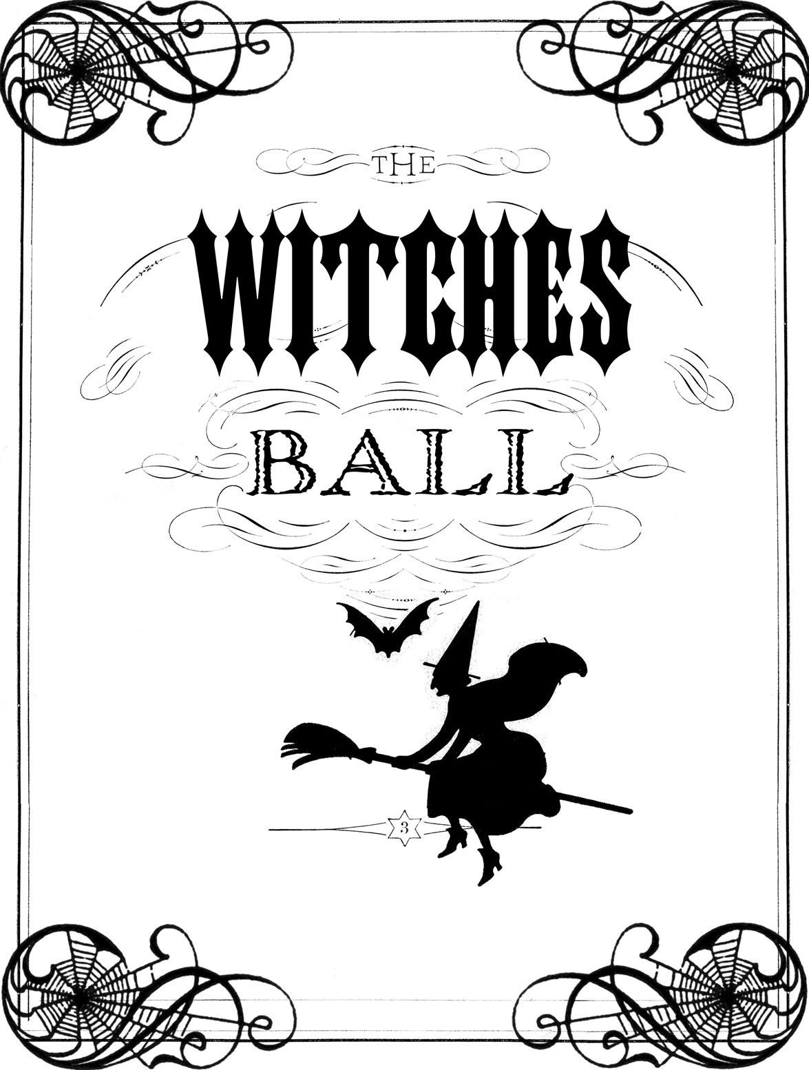 Vintage Halloween Printable - The Witches Ball - The Graphics Fairy