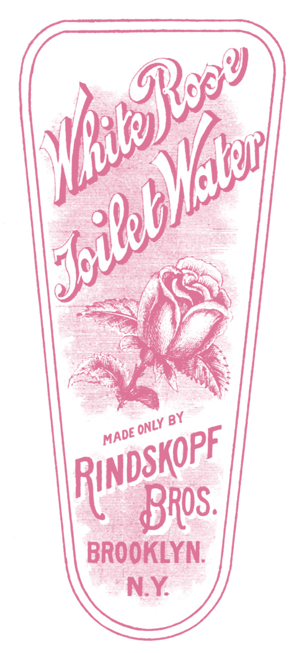 Vintage Clip Art Rose Toilet Water Label The Graphics