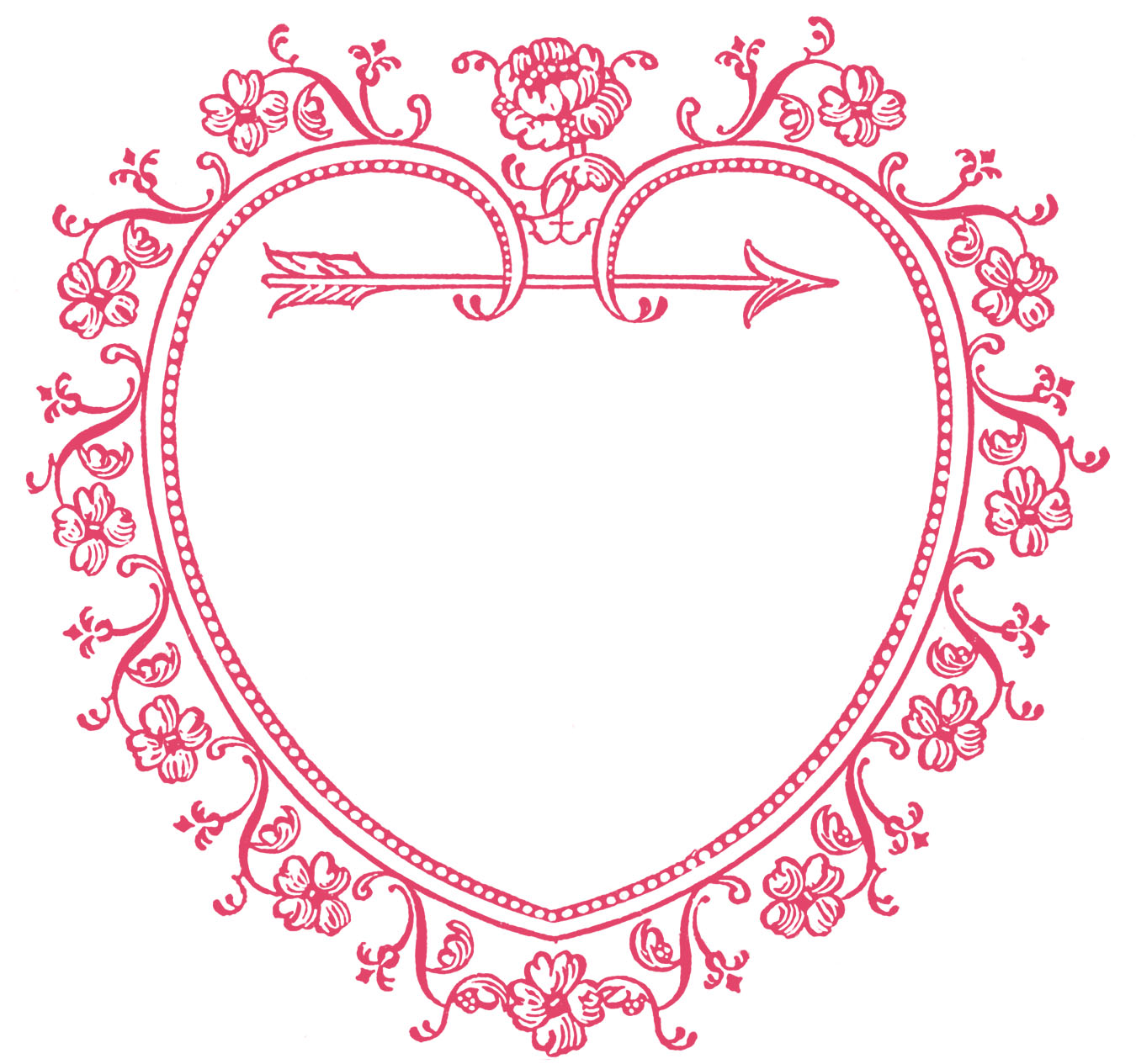 Vintage Valentine\'s Day Clip Art - Sweetest Heart Frame - The ...