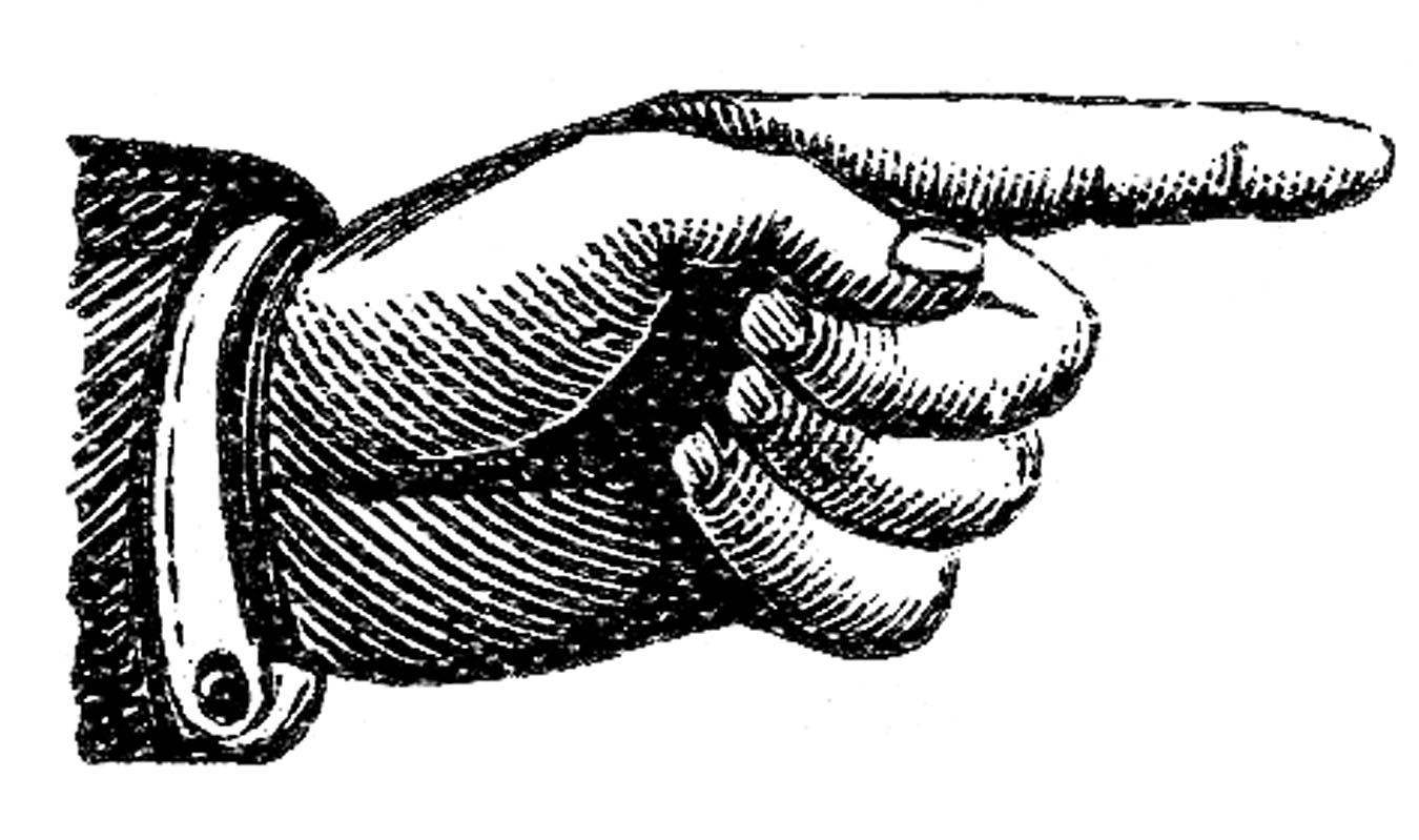 Victorian Clip Art Pointing Hands Steampunk The