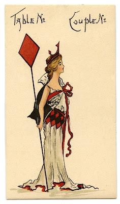 Vintage Ephemera Image - Queen of Diamonds - The Graphics Fairy