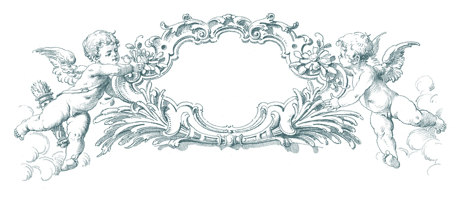 Romantic Graphic Frames Cherubs The Graphics Fairy