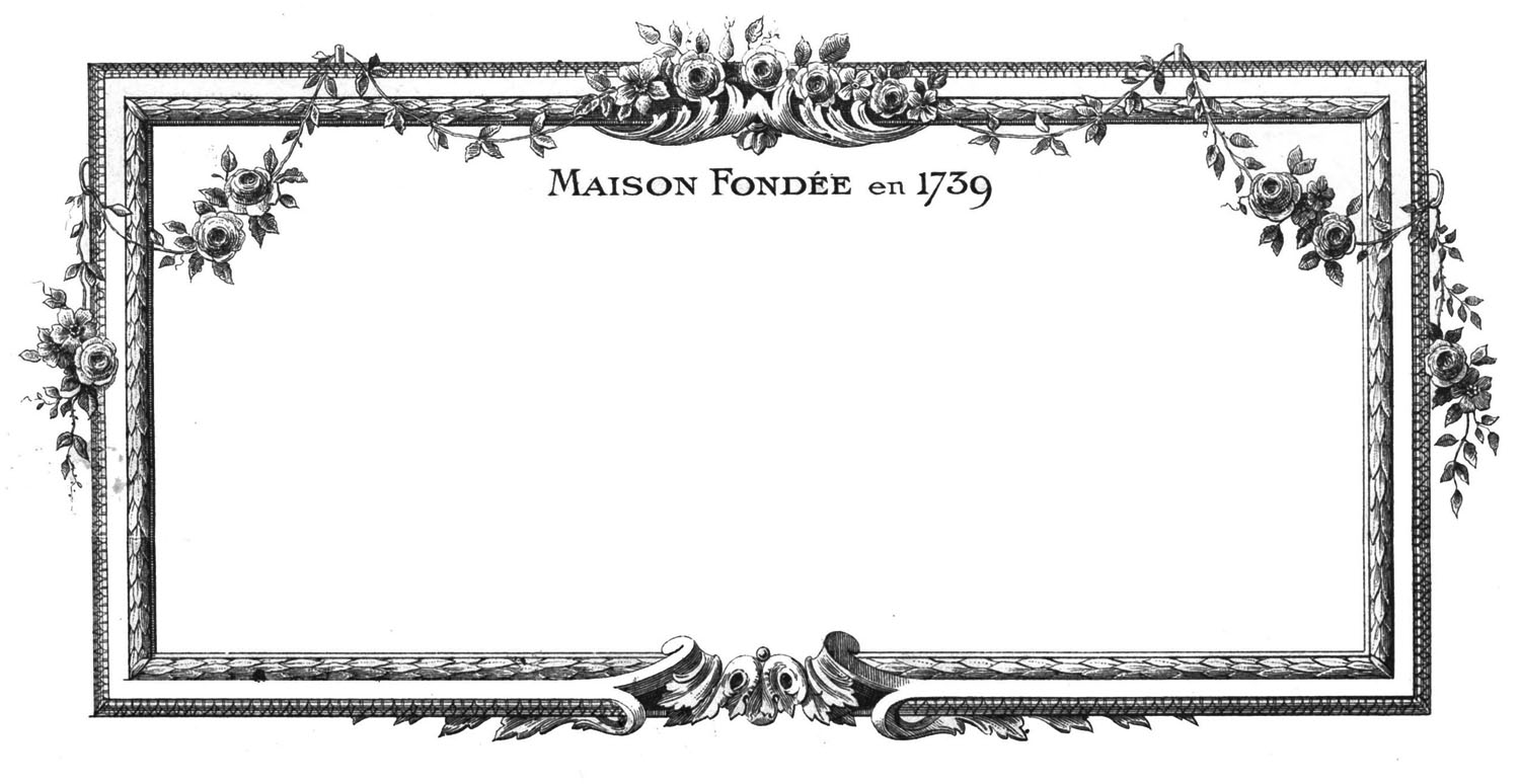 Vintage Clip Art – Beautiful French Frames