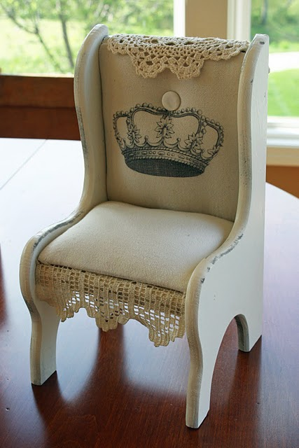 homemade doll furniture. Dear Sweet Jane From Mamie Jane\u0027s Created This Darling Little Doll Chair Using A Vintage Princess Crown Image. How Cute!! Be Sure And Check Out Her Site To Homemade Furniture O