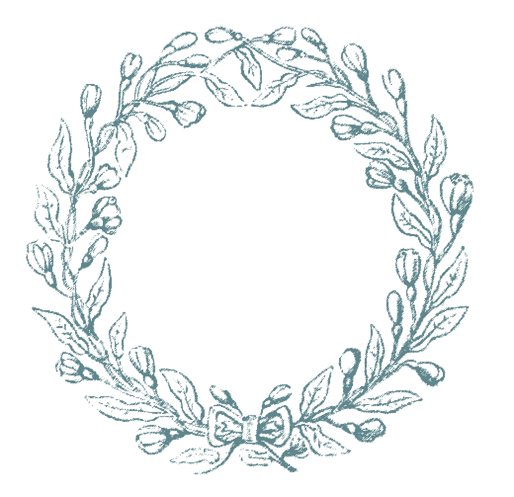 Christmas Wreaths Clipart Design