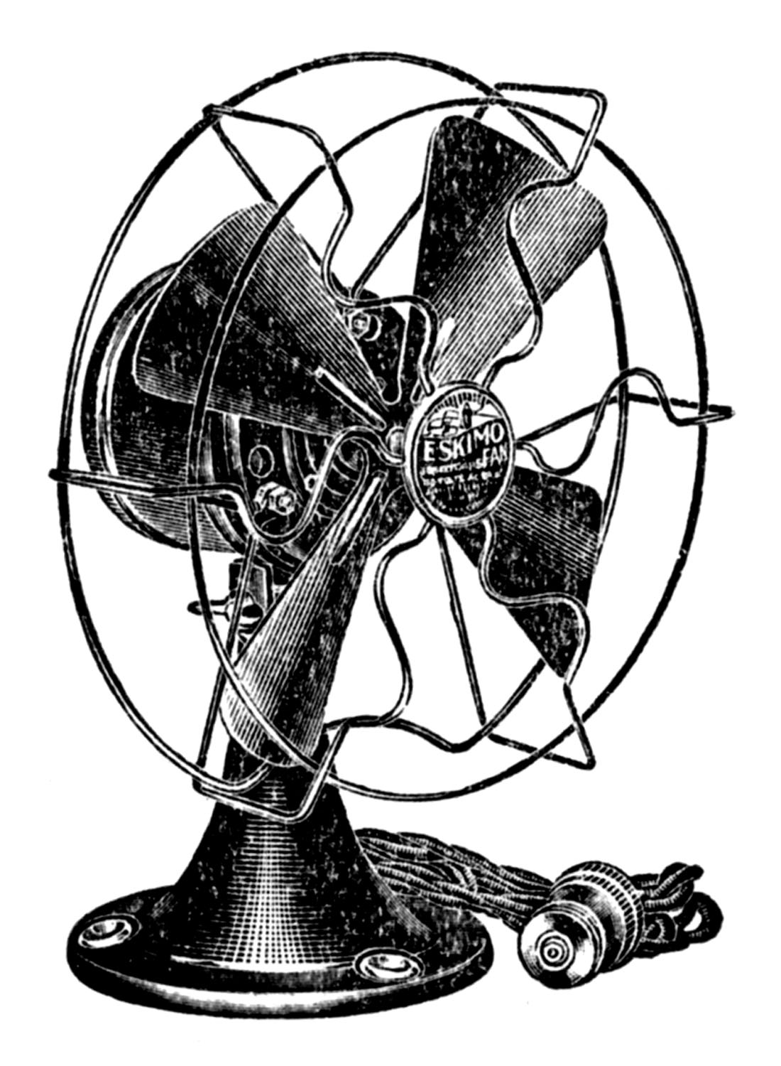 History About The Electric Fan : Retro clip art cute electric fan the graphics fairy