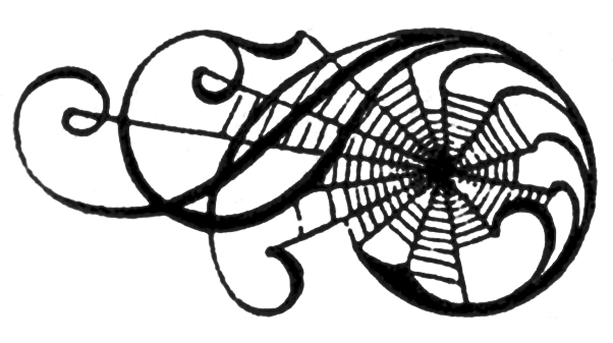 vintage halloween clip art awesome spiderweb scrolls the