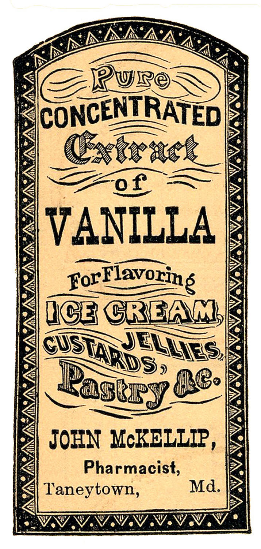 Vintage Clip Art - Apothecary Label - Vanilla Extract ...