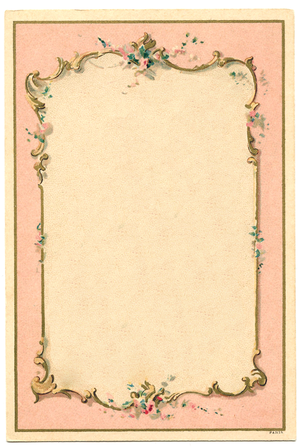 ... French Graphic - Romantic Couple - Ornate Frames - The Graphics Fairy