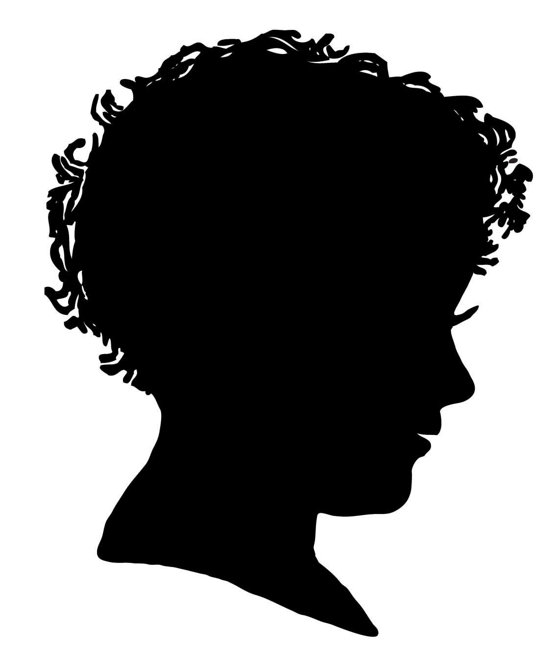 Vintage Clip Art - Silhouette Boy & Girl - The Graphics Fairy