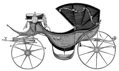 Antique Clip Art - Carriage fit for a Princess //  The Graphics Fairy