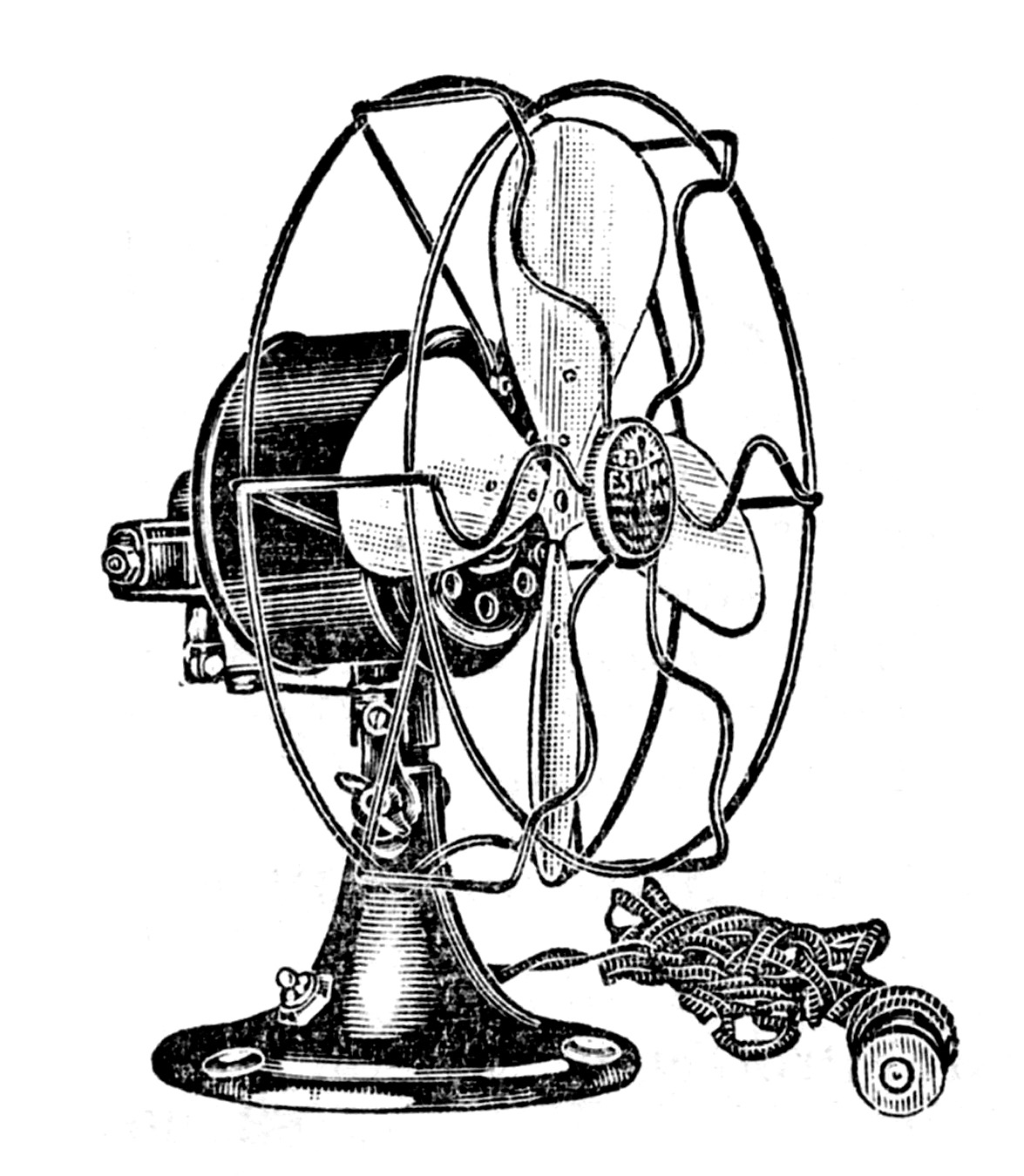 Vintage Clip Art - Electric Fans - Steampunk - The Graphics Fairy for Fan Clipart Black And White  588gtk