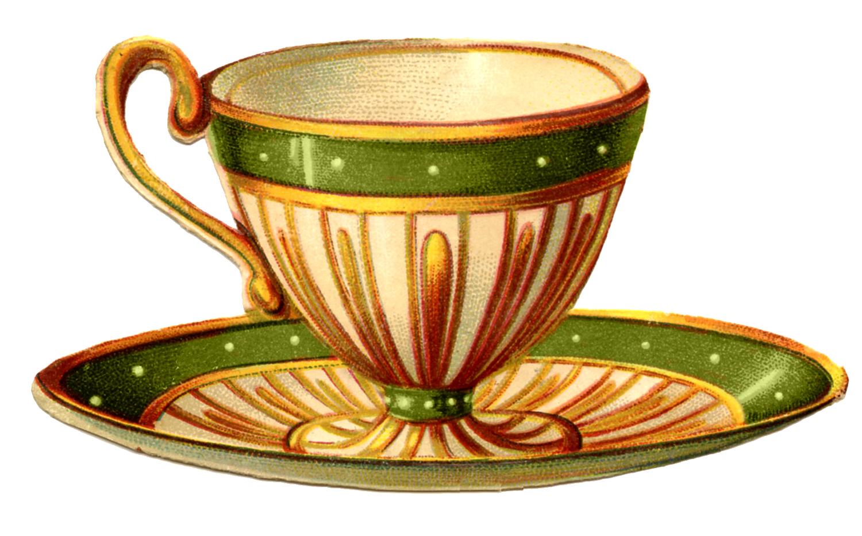 Vintage Tea Cups Part - 15: Vintage Graphics - Pretty Teacups - The Graphics Fairy