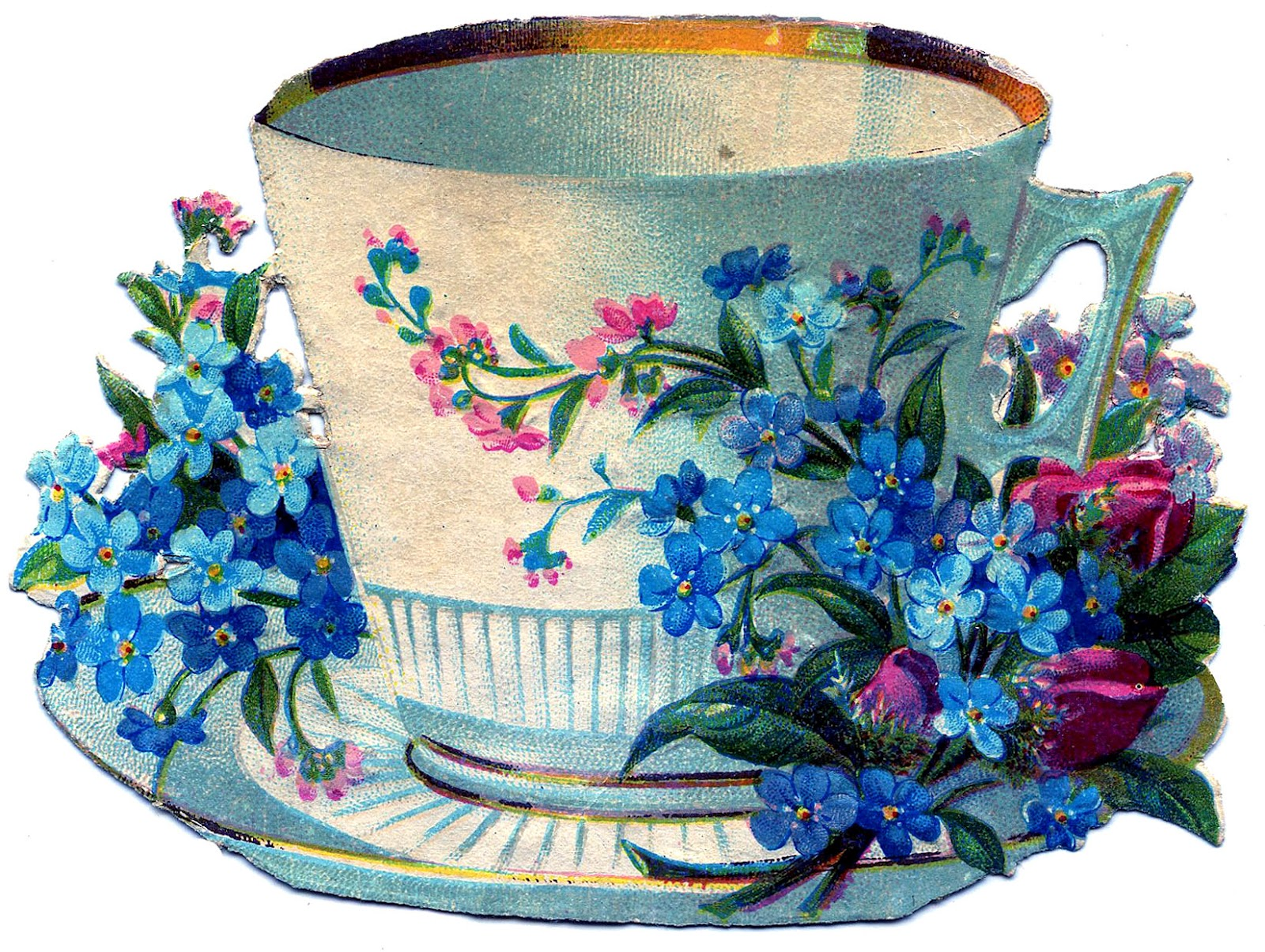 Another Gorgeous Tea Cup With Flowers