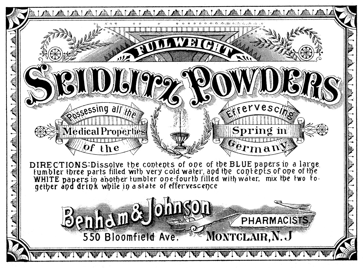 vintage clip art - apothecary label -medical - the graphics fairy